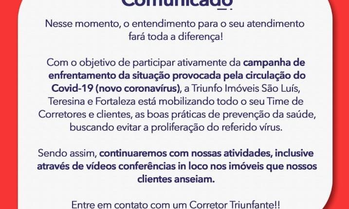Comunicado Importante !